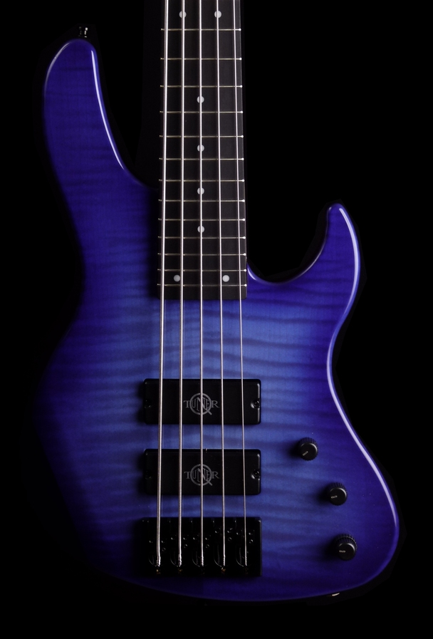 5 string bass equipped with Q-tuners made by paolo betti