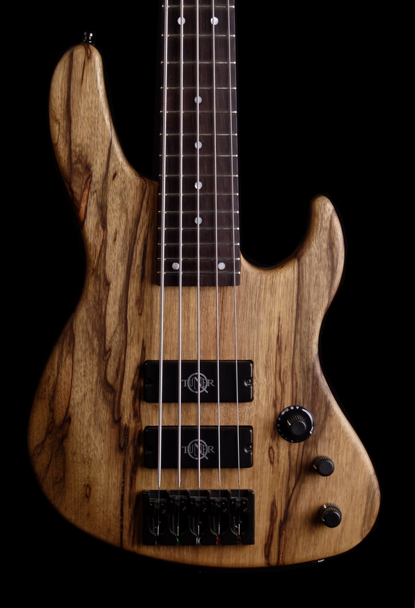5 string bass equipped with Q-tuners made by paolo betti 4