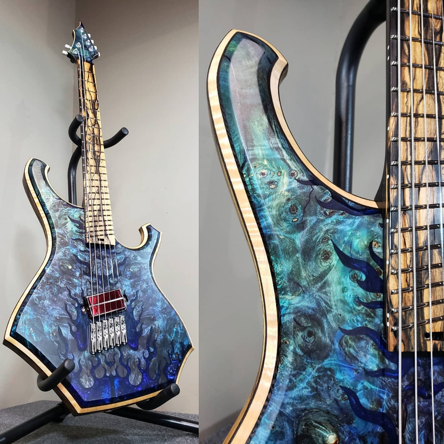 Barlow Guitars Condor 6 string guitar equipped with a q-tuner pickup