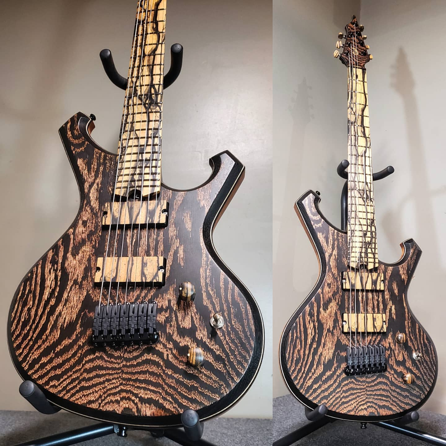 Barlow Guitars Falcon II equipped with q-tuner pickups
